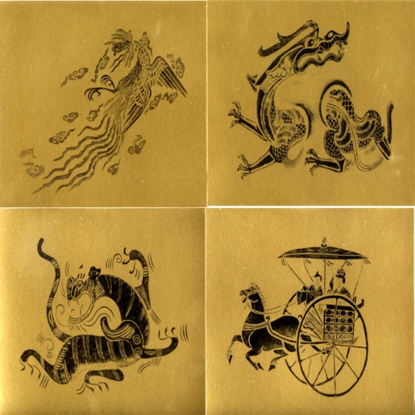12 Crafthouse Press Oriental Woodcut Prints